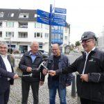 Bürgermeister Jörg Schröder, Stadtverordnetenvorsteher Wolfgang Heinze, Planungsbüro Pro3 Ralf Meier, Geschäftsführer der SEWOBA Hans Peter Thierfeld (v.l.)
