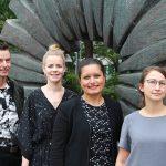 QM-Team: Peter Gerwert, Anna Stuhlmacher, Firdaous Fatfouta-Hanka und Cathrin Gudurat (v.l.)