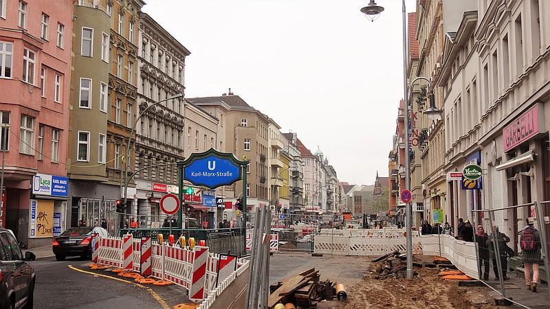 Karl-Marx-Straße: Verkehrsfreigabe und Spatenstich