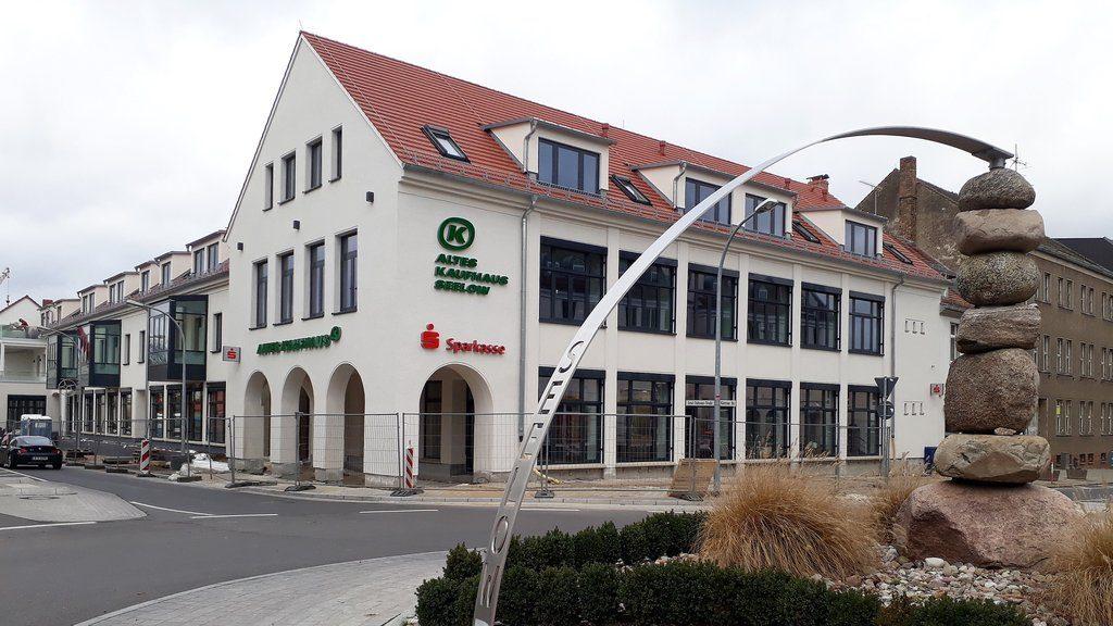 Das Alte Kaufhaus Seelow kurz vor der Fertigstellung