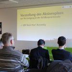 Stadtteilkonferenz Schillerkiez: Gunnar Zerowsky stellt den Aktionsplan vor