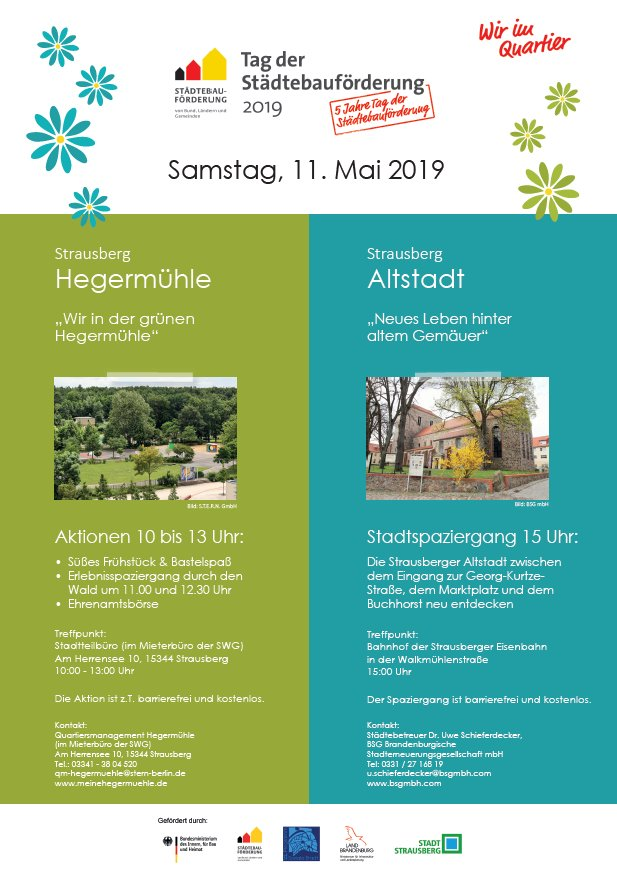 Tag der Städtebauförderung 2019 in Strausberg
