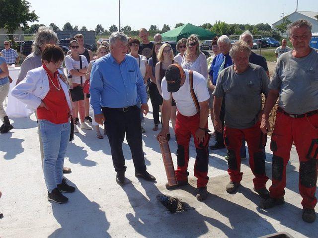 Grundsteinlegung Straßenverkehrsamt Strausberg