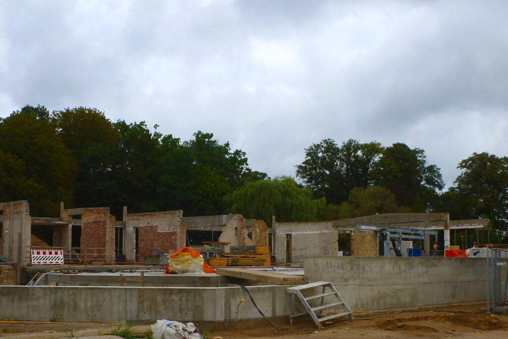 Baustelle Kindertagesstätte im Bürgergarten Templin
